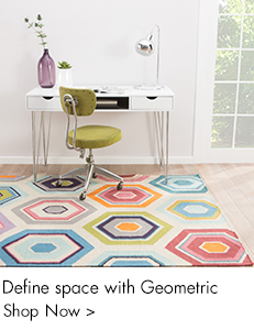 Define space with Geometric rugs