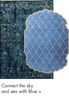 Blue ans sky color handmade rugs-m