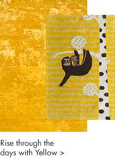 Yellow and gold handmade rugs-m