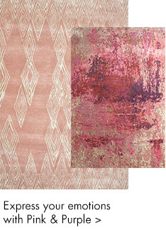 Pink and purple color handmade rugs - m