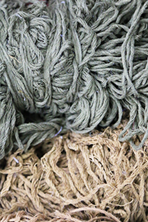 Dark gray and off white color pure silk yarn