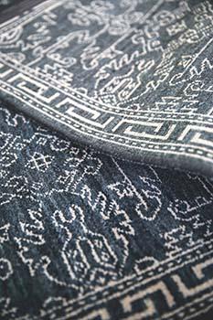 Blue color handmade rug